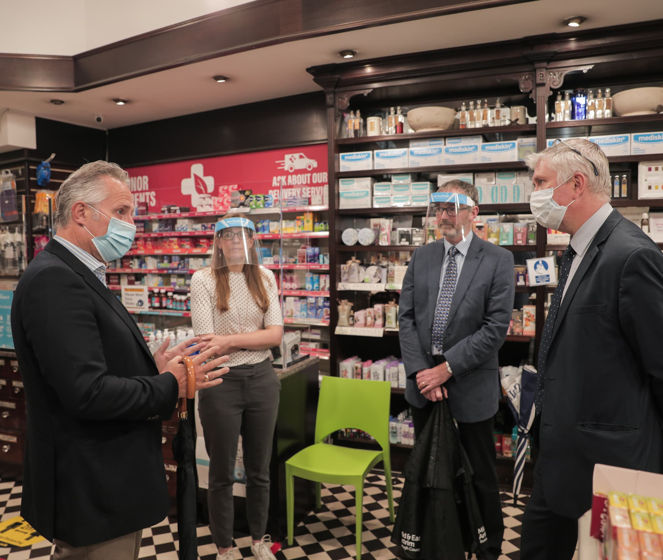 MP pays visit to local pharmacy to thank team for work during pandemic